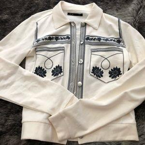 ASOS white button down sweater